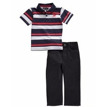 Roupa Infantil Camisa Pólo+calça Jeans