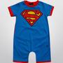 Macacão Super Man Para Bebe Menino