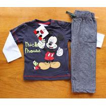 Conjunto De Malha Infantil Disney Mickey Mouse
