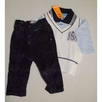 Conjunto 3 Peças - Camiseta Polo Em Malha Marisol Baby