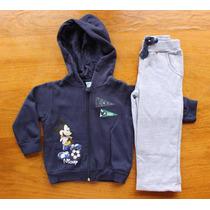 Conjunto De Moletom Infantil Disney Mickey Mouse Com Capuz