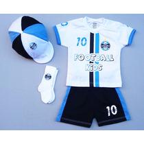 Conjunto Do Grêmio P/ Bebê C/ 4 Peças