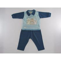 Conjunto Infantil Menino Blusa E Calça Bordado
