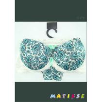 Conjunto Calcinha E Sutiã Matisse Lojista Kit 10 Peças