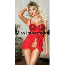 Lingerie Babydoll Camisola Paniquete Pijama Sexy