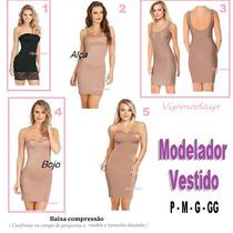 Vestido Cinta Calça Fitness Modelador Segunda Anágua P M Gg
