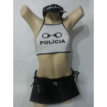 Fantasia Feminina Erótica Policial Sexy Sensual