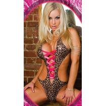 Conjunto Body Leopardo [ Lingerie Sexy Sensual ]