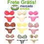 Lingerie Conjuntos Kit Com 15 Atacado - Revenda Frete Grátis