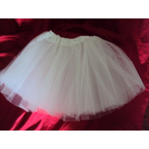 Lote 18 Saias De Tule Branca 3 Camadas Tutu Bailarina