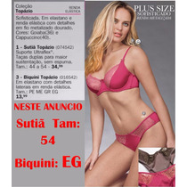 Conjunto Sutia Calcinha Rosa Rendado 54 Demillus Pronta Entr
