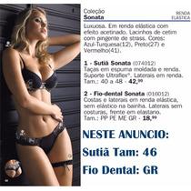 Conjunto Sutia Calcinha Rendas Preto Demillus Pronta Entrega