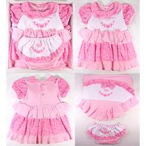 Kit Saída De Maternidade Menina Vestido Travesseiro - Luxo
