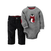 Conjunto Bodysuit Pinguim E Calça Preta - Carters