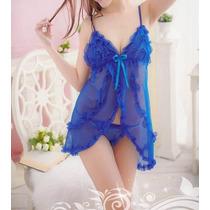 Camisola + Calcinha Baby Doll Sexy Tam. Único Frete Grátis
