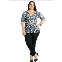 Conjunto Plus Size Calça E Blusa Gordinha Fashion Roupa Gg