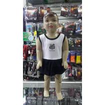 Kit Infantil Torcida Baby Santos Menina Vestido + Calcinha
