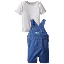 Conjunto Jardineira Com Camiseta Carters - Meninos