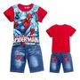 Conjunto Infantil Homem-aranha Camisa Bermuda Pronta Entrega
