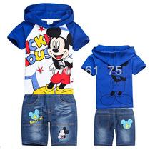 Conjunto Infantil Mickey Camisa Bermuda Pronta Entrega