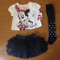 Fantasia Infantil Minnie - Conjunto Saia, Blusa E Meia Calca