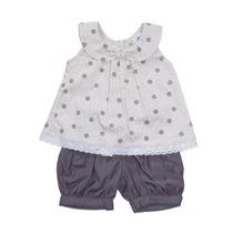 Conjunto Shorts E Blusa (batinha) Menina Bebê Cle4180 (110)
