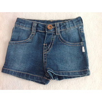 Short Luxo Jeans Bebe Menina C/ Stretch Puc Muito Barato