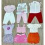 Lote 10 Pçs Roupa Bebê Menina Verão Tam. M Body Bermuda Saia