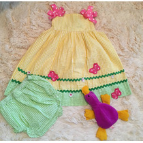 Vestido Infantil Festa Blusa Feminino Tamanho 18 A 24 Meses