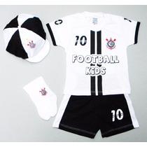 Conjunto Do Corinthians P/ Bebê C/ 4 Peças