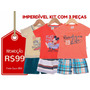 Brandili - Kit 3 Conjuntos Inf. - Tam P - Frete Único - R$10