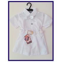 Conjunto Social,shorts,cinto,camisa,e Gravata Borboleta