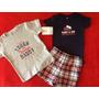 Kit Camiseta Body Shorts 18 M Carter