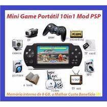 Mini Game Portátil Multifunção Modelo Psp Mp5 Foto Presente
