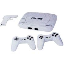 Video Game Polystation 1 Com 2 Controles + 1 Pistola + Jogos