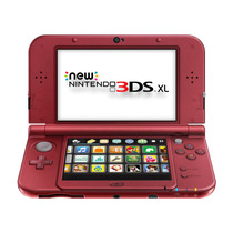 New Nintendo 3ds Xl + Adaptador - Vermelho - Pronta Entrega!