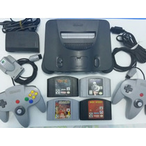 Nintendo 64 Completo 4 Jogos, 2 Controle E 1 Rumble Pak