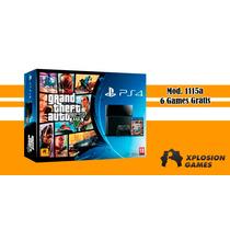Playstation 4, Bundle Gta V, The Last Of Us + 6 Jogos