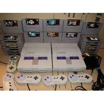 Super Nintendo Completo +5 Fitas De Brinde