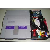 Super Nintendo + 2 Controles + Fonte Bivolt + Av + Garantia