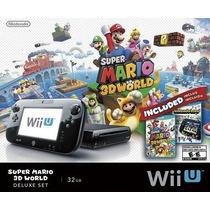 Nintendo Wii U 32gb Deluxe Set 2 Jogos Mario 3d + Nint. Land