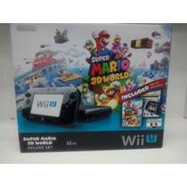 Wiiu 32gb Preto Com 2 Jogos