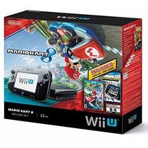 Nintendo Wii U 32gb Com 2 Jogos Mario Kart 8 + Nintendo Land