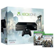 Xbox One 500gb + Assassins Creed Unity E Black Flag