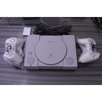 Playstation 1 Fat Leitor Novo + 2 Controles 10 Jogos Memory