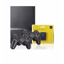 Playstation 2 Destravado + 2 Controles Original Sony + Card