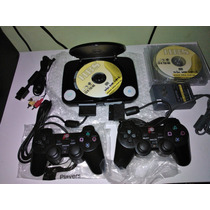 Playstation One Personalizado Na Cor Preto Cadilac, Completo