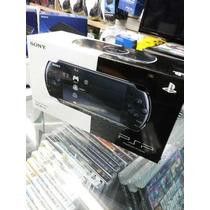 Psp Slim 3001 Bivolt + Cartão 8gb +adaptador Produo+50 Brind