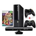 Xbox360 S.slim 4gb Jtag+ Kinect+2 Controles+10 Jogos+roda Hd