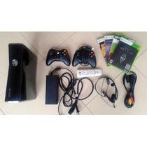 Xbox 360 Slim 250gb + 2 Controles + Skyrim, Saints 3 + Jogos